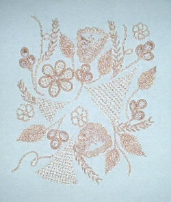 Eryn's Brazilian Embroidery Pattern by Anna Grist using