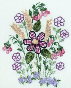 Laurel & Wheat Brazilian Embroidery Pattern by Anna Grist
