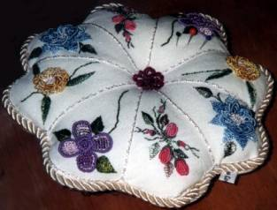 Victorian Pin Cushion Brazilian dimensional embroidery pattern