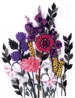 Columbine and Mascari Brazilian Embroidery Pattern by Anna Grist