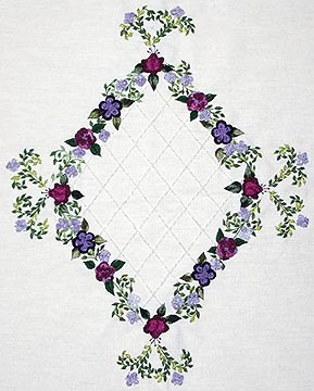 AG4174   Embroidery Pattern by Anna Grist using EdMar rayon threads to stitch the design.
