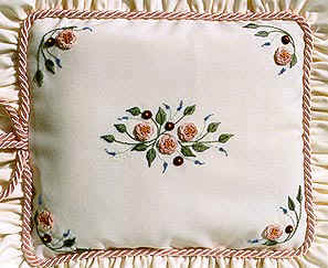 CAMELLIA CUSHION- Brazilian dimensional embroidery pattern