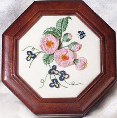 Brazilian Embroidery From Blackberry Lane: Pink Camellias