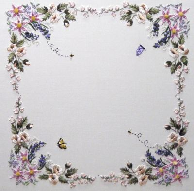 Cottage Garden Brazilian Embroidery Pattern