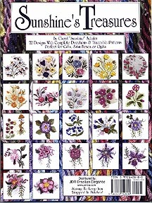 "Sunshine's Treasures, Book 1 Back Cover By Cheryl ""Sunshine "" Schuler"