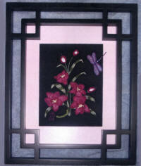 Asian Lace Lily Brazilian Embroidery Lace Art by Debra Goff.