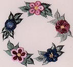Fun Flowers-Brazilian Embroidery pattern