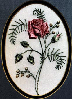 A Rose For My Mother -Brazilian Embroidery pattern