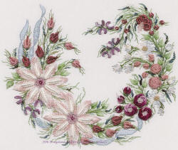 Brazilian Embroidery Design Utopia Wreath Pattern and kit