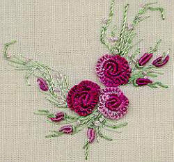 Summer Roses Brazilian dimensional embroidery pattern