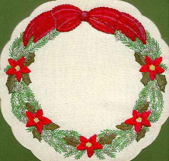 Poinsettia Wreath ED3655