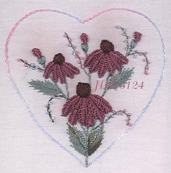 JDR 6124 Coneflowers In A Heart