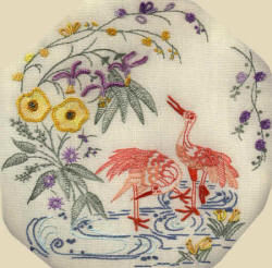 "Brazilian  Embroidery Pattern ""Cranes"" JDR-BE 115"