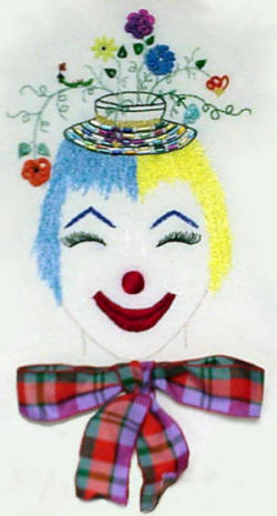 Martha the clown Brazilian Embroidery pattern