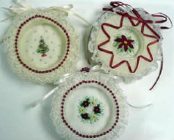 Handmade Embroidered Christmas Ornaments