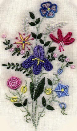Brazilian Embroidery Design: Sweetheart Bouquet