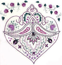 Oriental Embroidery pattern -Persia - A Beginners Brazilian Embroidery Design