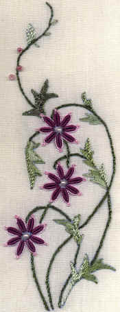 Chelsea's Fancy Daisy Brazilian Embroidery Pattern