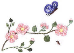 Brazilian Embroidery Design: Apple Blossom Time