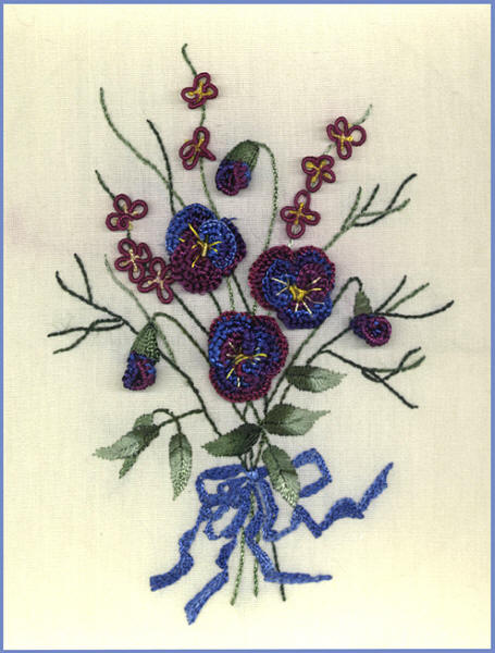 Brazilian Embroidery Pattern JDR 336 Pansy