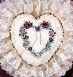 Brazilian Embroidery Design: Victorian Heart