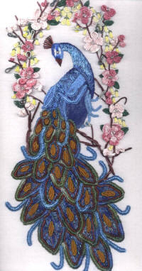 Embroidered Peacock JDR 6012