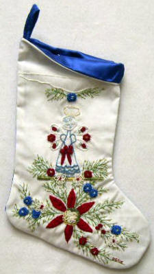 "Brazilian Embroidery Christmas ""Freedom"" Stocking JDR 6046"