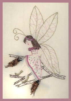 Brazilian Dimensional Embroidery Pattern JDR 6061 Caterpillar Watcher by Dexie Smith