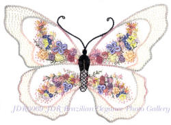 Butterfly, Delicate Beauty Brazilian Embroidery