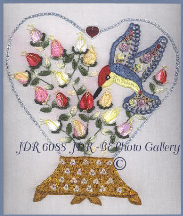 Brazilian Embroidery Pattern JDR 6088 Loves of My Heart