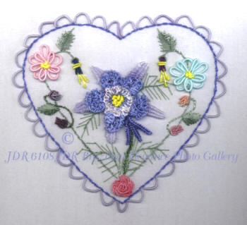 JDR 6108 Tammie's Heart Intermediate Brazilian Embroidery Design