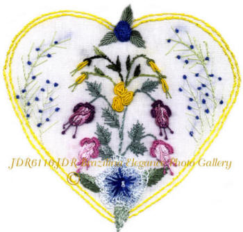 Brazilian Embroidery Hearts & Flowers Designs  