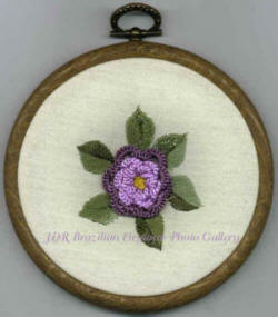 Mini Camellia Brazilian Embroidery Design