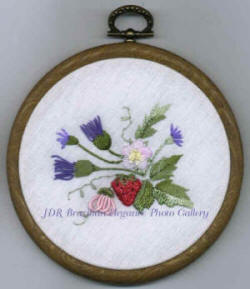 Strawberry & Thistle Brazilian Embroidery Design