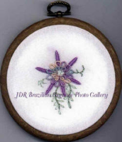 Brazilian Embroidery Design Double Columbine at JDR-BE
