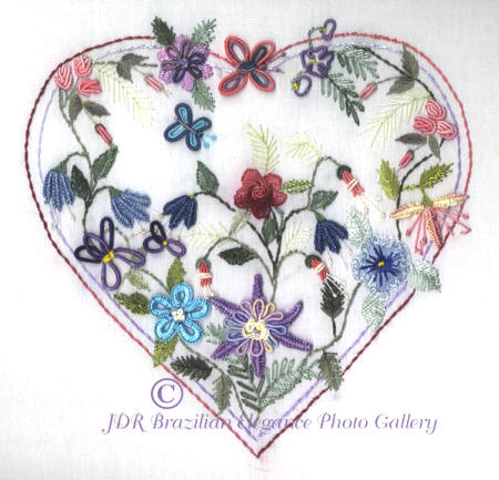 JDR6133l Columbine Heart Pattern