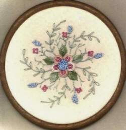 Charlene's Rose Round Brazilian Embroidery design