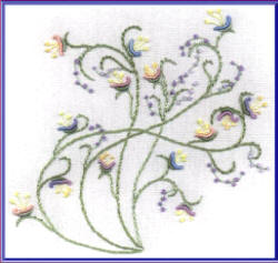 Brazilian Embroidery Pattern Creeping Flower