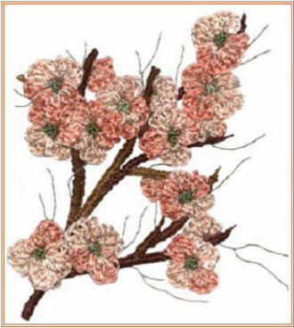 Brazilian Embroidery Pattern Peach Blossom
