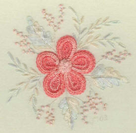 Brazilian Embroidery Design: Flower For My Grandma JDR 398