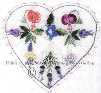 Brazilian Embroidered Heart for Whitney - JDR 6112