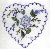JDR 6129 Brittany's Delphinium Hand embroidery Pattern