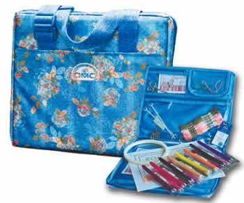 StitchBow Travel Bag - Blue Floral