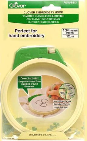 "Clover 4.75"" Locking Embroidery Hoop (12 cm)"